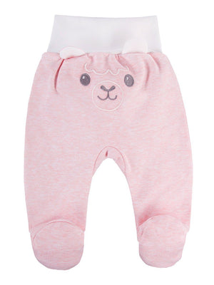 Footed Trousers, Pink with Alpaca Face Rear (3-5lb & 5-8lb)