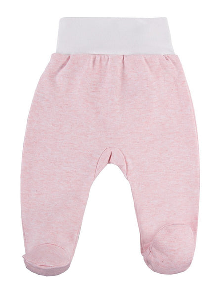Footed Trousers, Pink with Alpaca Face Rear (3-5lb)