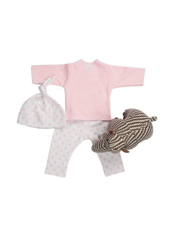 Pink Top Spotty Trousers & Mammoth Rattle
