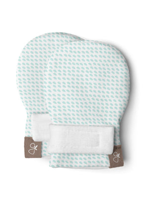 Premature Baby Stay-on Scratch Mitts - Aqua Blue (3-6 lbs)