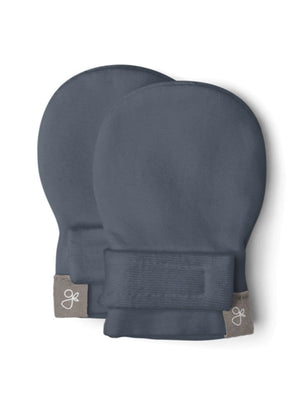 Prem Stay-On Scratch Mittens - Midnight Blue (3-6 lbs) - Scratch Mitts - Goumikids