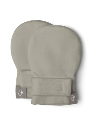 Prem Stay-On Scratch Mittens - Khaki Moss (3-6 lbs) - Scratch Mitts - Goumikids