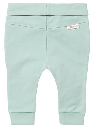 Tiny Baby Trousers - Grey Mint - Organic (4-7lb)