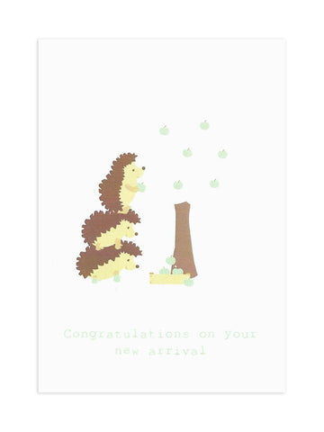 "Hedgehog ""New Arrival"" Card"