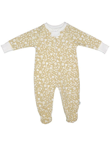 Organic Cotton Zip Up Yellow Bee Sleepsuit (3-5 & 5-8lb)