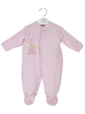 Pink Ribbed Rabbit and Star Sleepsuit 3-5lbs