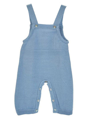 Blue Knitted Early Baby Dungarees (3-5lbs / Tiny Baby) - Dungaree - Dandelion