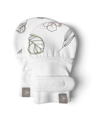 Prem Stay-On Scratch Mitts - Abstract Floral (3-6 lbs) - Scratch Mitts - Goumikids