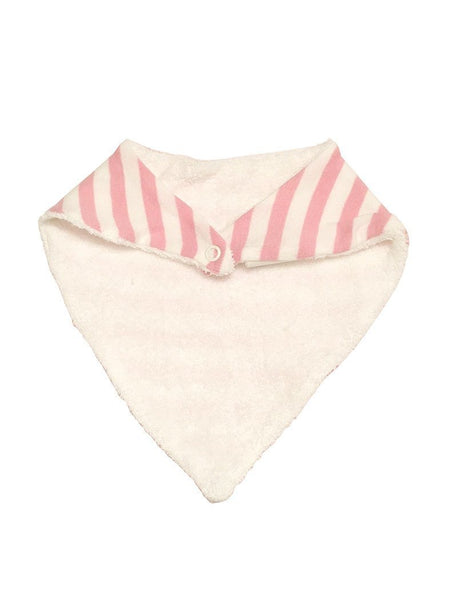 Organic Fair Trade Dribble Bib - Light Pink Stripe - Dribble Bib - Under The Nile - Little Mouse Baby Clothing & Gifts