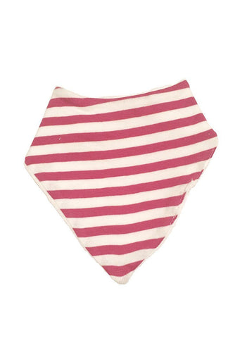 Organic Fair Trade Dribble Bib - Dark Pink Stripe - Dribble Bib - Under The Nile - Little Mouse Baby Clothing & Gifts