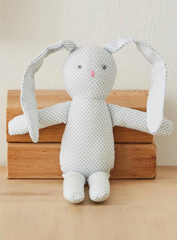 Blue/Grey Spotted Bunny Rabbit Snuggle Toy - toys - Albetta UK - Little Mouse Baby Clothing & Gifts