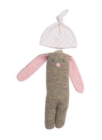 Beatrice Bunny and Pink Spotty Knotted Hat (Premature Baby)
