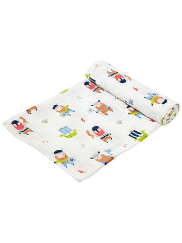 Large Viking Pattern Bamboo Muslin Swaddle