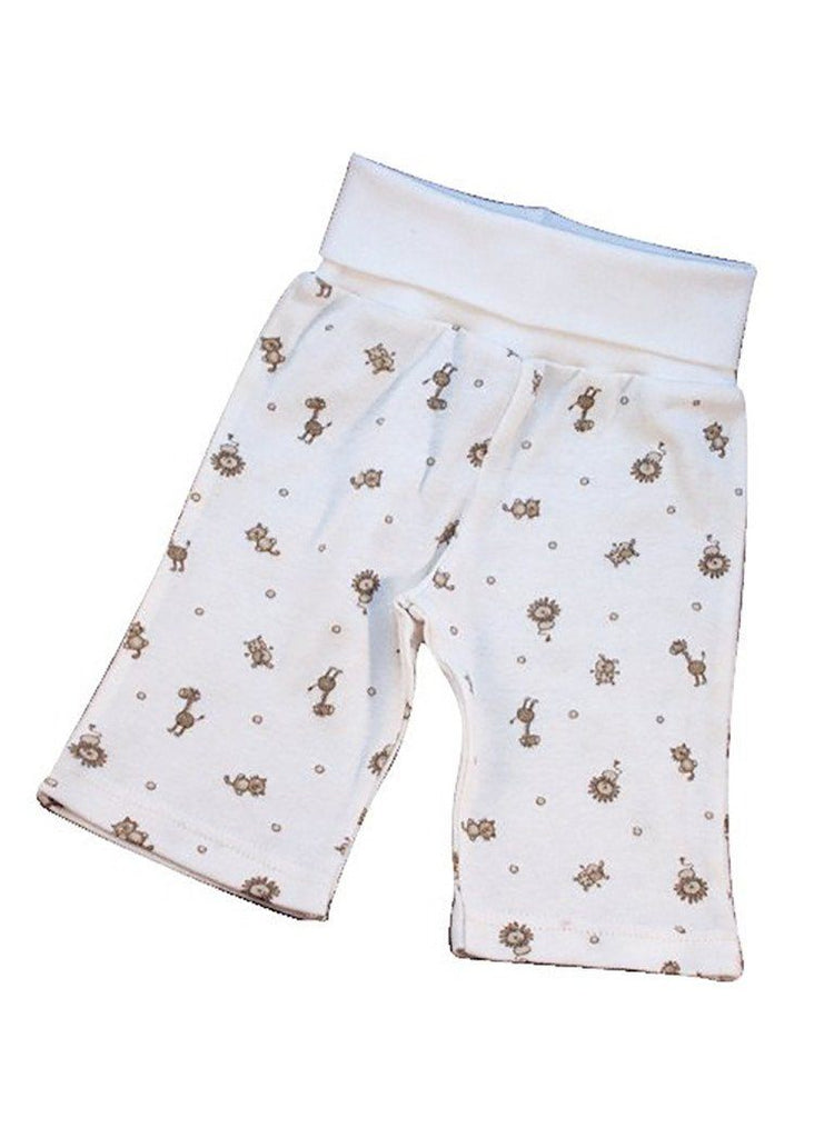 Organic and Fair trade Rolled Waist Trousers - Animal Print - trousers - Under The Nile - Little Mouse Baby Clothing & Gifts