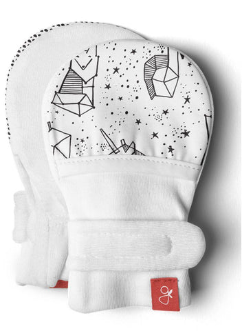 Stay-On Anti-Scratch Mittens - Faces In The Stars (0-3 Months)