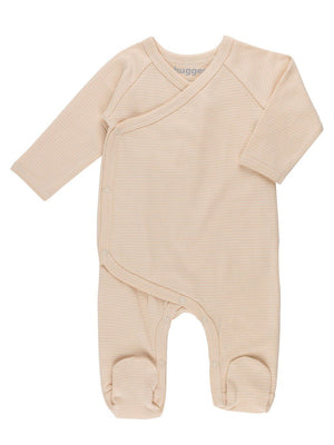 GOTS Certified Organic Cotton Nude Stripe Wrapover Sleepsuit (3 Sizes)