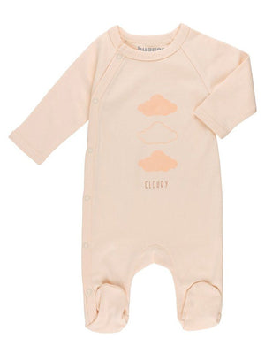 GOTS Certified Organic Cotton Nude Cloud Wrapover Sleepsuit (5-8lb & 7.5-10lb)