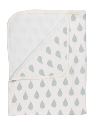 Hooded Towel -  GOTS Certified Organic Cotton - Droplet Print