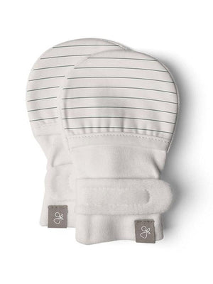 Stay-On Scratch Mittens - Balsam Stripe (3-6 Months) - Scratch Mitts - Goumikids