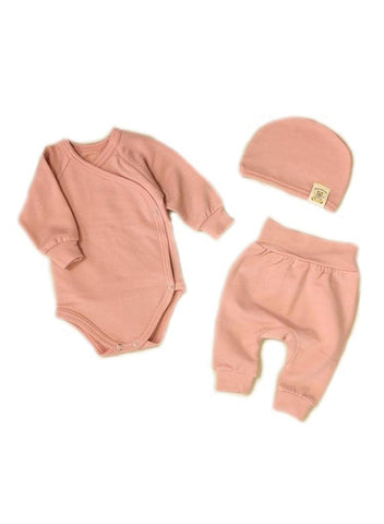 Mini Boo Bamboo Layette Set, Blush Pink (3lb-5lb)