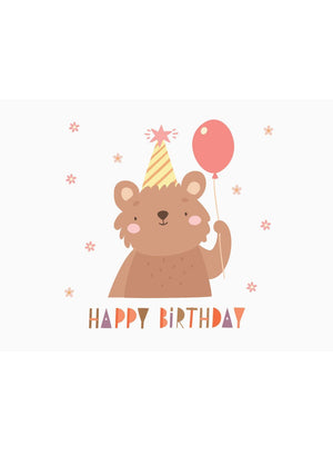 Happy Birthday - Bear Design - Baby Card - New baby card - Little Mouse Baby Clothing & Gifts