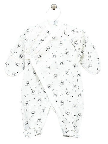 Teddy Wrapover Design Footed Sleepsuit 3-5lbs