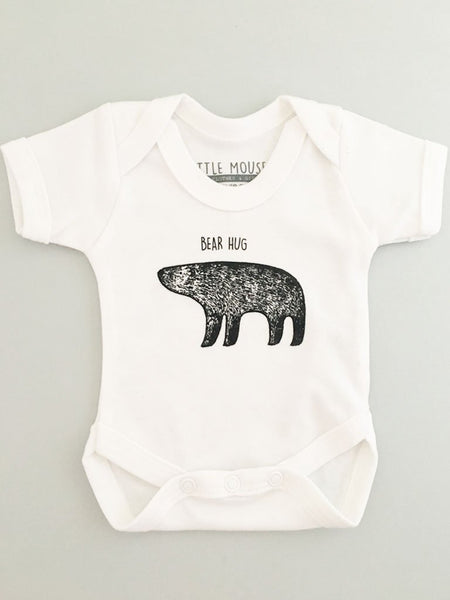 'Bear Hug' Baby Vest, Scandi-Style (4 Sizes)