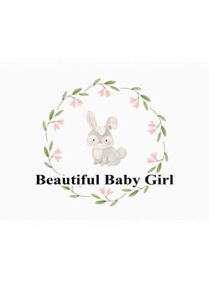 Beautiful Baby Girl - New Baby Card - New baby card - Little Mouse Baby Clothing & Gifts