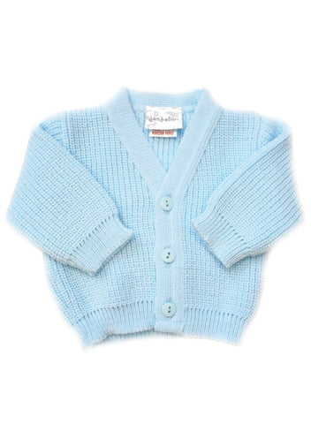 Blue Tiny Baby Cardigan (3-5lb & 5-8lb)