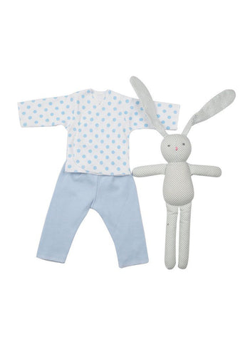 Dotty about blue premature baby gift set