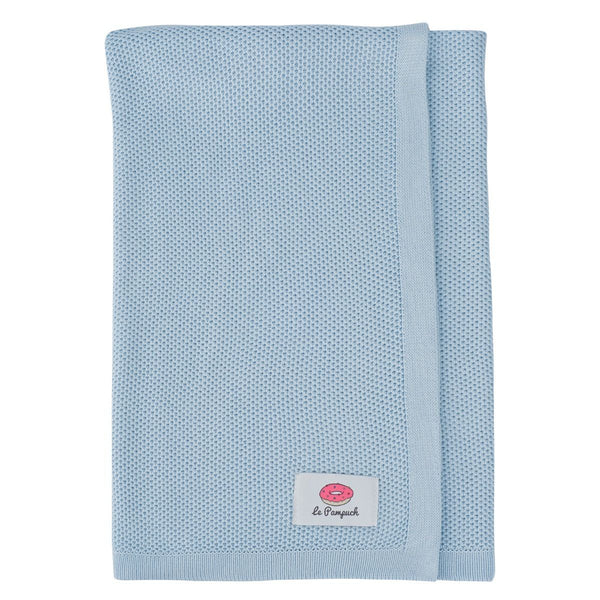 Antibacterial Bamboo Blanket with Silver - Blue
