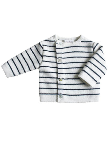 Knitted Breton Stripe Cardigan (Newborn)