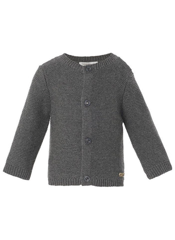 Knitted Cardigan - Charcoal - cardigans - Noppies - Little Mouse Baby Clothing & Gifts
