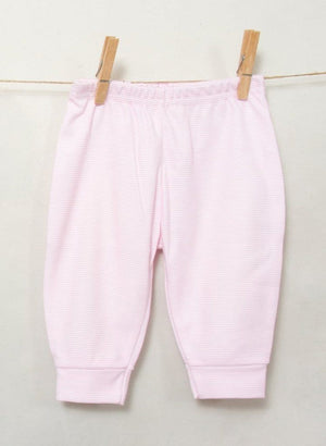 Newborn Baby Trousers - Pink Stripey