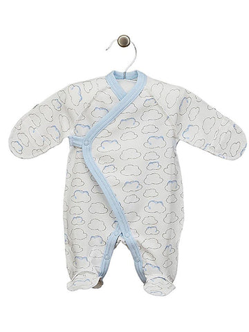 Cloud Wrapover Design Footed Sleepsuit 3-5lbs