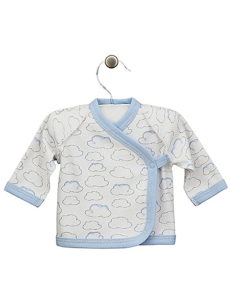 Cloud Wrapover Design Long Sleeve Top, 3-5lbs