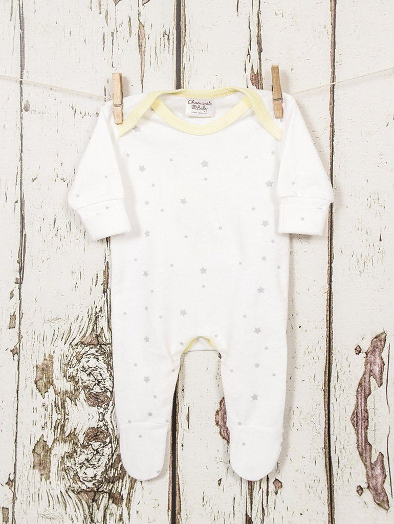 Star sleepsuit - Sleepsuits - Chamomile Baby - Little Mouse Baby Clothing & Gifts