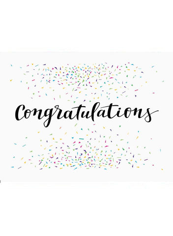 Congratulations Confetti - New Baby Card