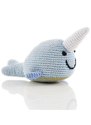 Narwhal Crochet Fair Trade Rattle Toy