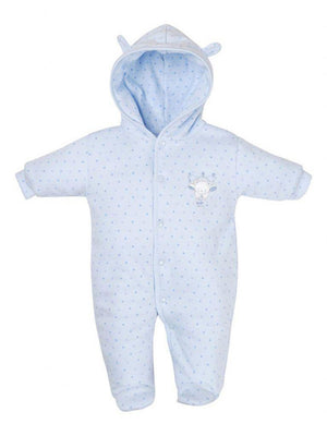 Blue Tiny Baby Bear Snowsuit/pramsuit (3-5lb & 5-8lbs)