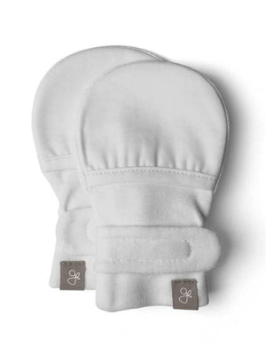 Stay-On Scratch Mittens - Mist Grey (0-3 & 3-6 months) - Scratch Mitts - Goumikids