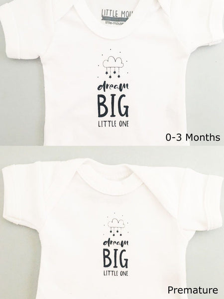 'Dream Big Little One' Baby Vest (4 Sizes)