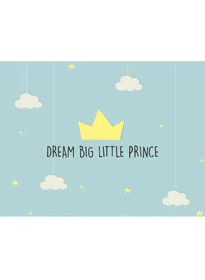 Dream Big Little Prince - New Baby Card - New baby card - Little Mouse Baby Clothing & Gifts