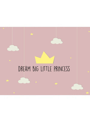 Dream Big Little Princess - New Baby Card - New baby card - Little Mouse Baby Clothing & Gifts
