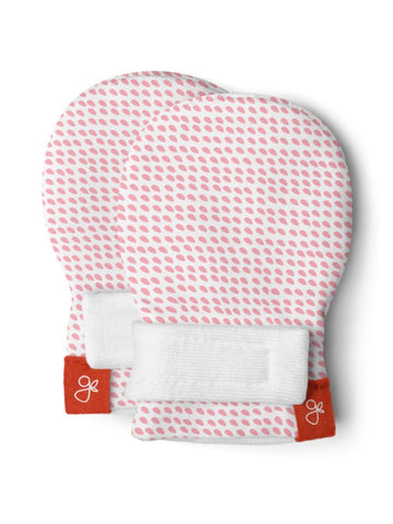 Premature Baby Stay-On Scratch Mittens - Pink (3-6 lbs)