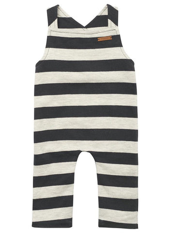 Black and White Stripe Dungarees - Dungaree - Noppies - Little Mouse Baby Clothing & Gifts
