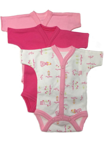 Little Princess Early Baby Vests - Set Of 3 (3lb-5lb)