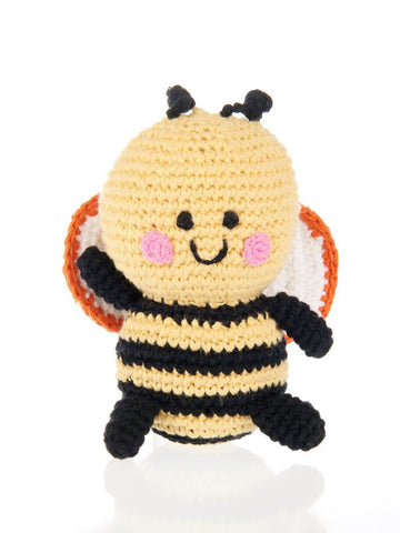 Jolly Bumble Bee Crochet Fair Trade Rattle Toy