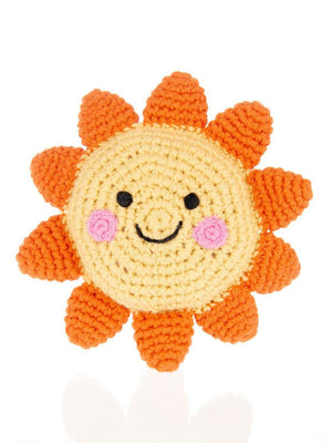 Happy Sun Crochet Fair Trade Rattle Toy