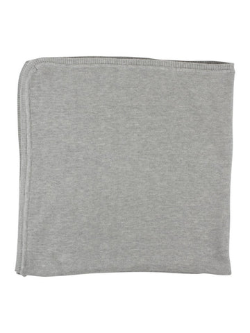 100% Cotton Soft Grey Knit Baby Blanket